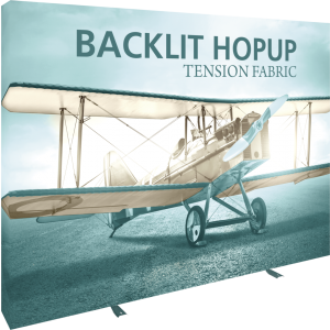 Hopup 10ft Backlit Straight Tension Fabric Display